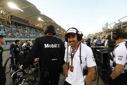 Fernando Alonso, McLaren en la parrilla