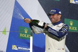Podium GTE-Am: second place #78 KCMG Porsche 911 RSR: Christian Ried