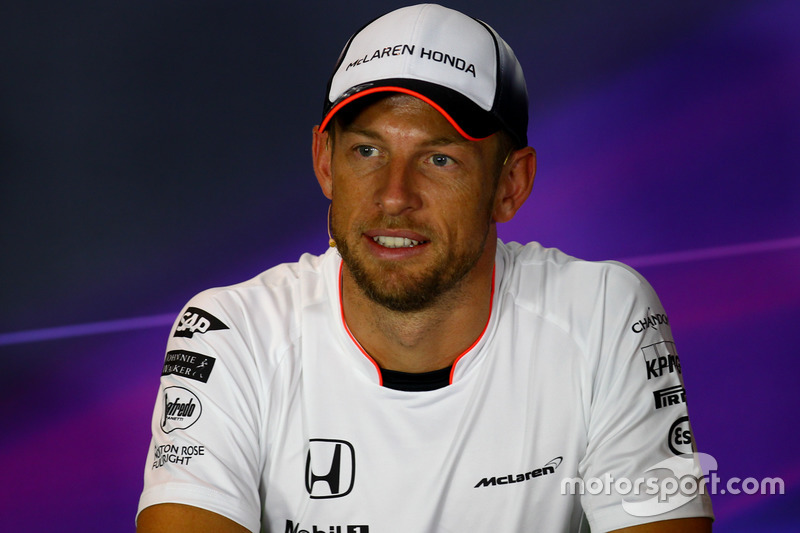 Jenson Button, McLaren in the FIA Press Conference