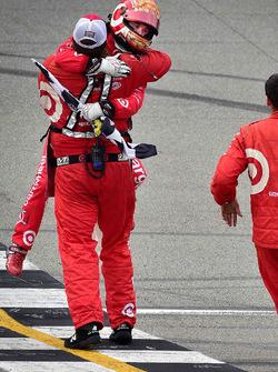 Race winner Kyle Larson, Chip Ganassi Racing Chevrolet