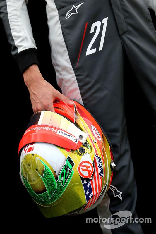 Helm von Esteban Gutierrez, Haas F1 Team