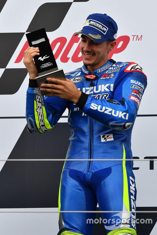 Podium: race winner Maverick Viñales, Team Suzuki MotoGP