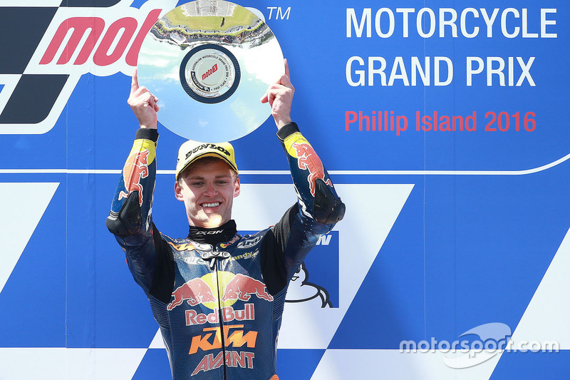 Podium: 1. Brad Binder, Red Bull KTM Ajo