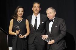 Президент FIA Жан Тодт и его супруга Мишель Ю на вречении награды в ООН