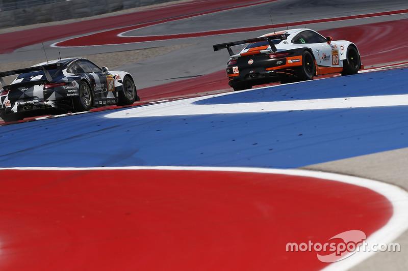 #88 Proton Racing Porsche 911 RSR: Khaled Al Qubaisi, David Heinemeier Hansson, Kevin Estre, #86 Gul