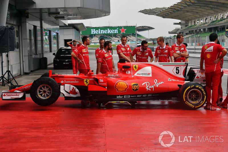 Ferrari SF70H in pitlane