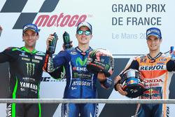 Подиум: Маверик Виньялес, Yamaha Factory Racing, победитель, Жоан Зарко, Monster Yamaha Tech 3, втор