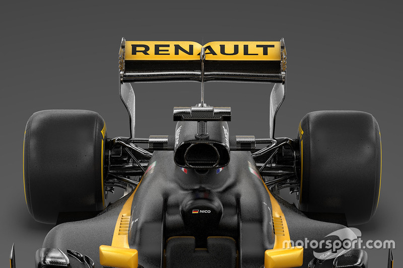 Renault RS17: Heckpartie