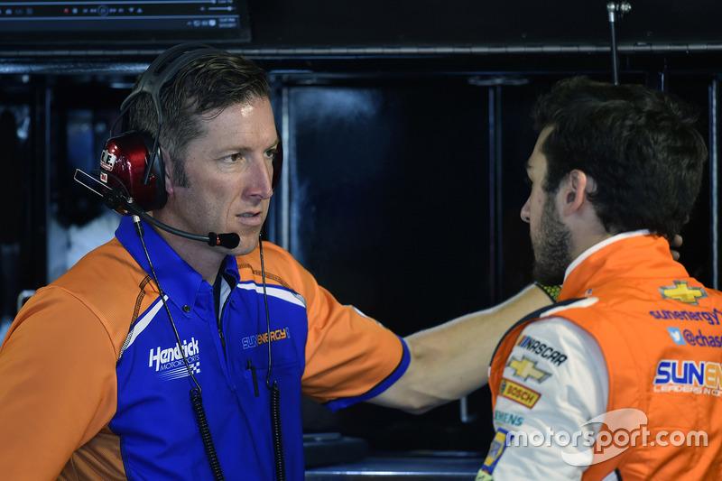 Chase Elliott, Hendrick Motorsports Chevrolet y el jefe Alan Gustafson