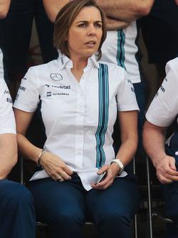 Claire Williams, Williams Deputy Team Principal at a team photograph