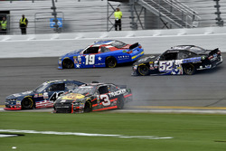 Ty Dillon, Richard Childress Racing Chevrolet, Brennan Poole, Chip Ganassi Racing Chevrolet, Matt Tifft, Joe Gibbs Racing Toyota, and Joey Gase, Jimmy Means Racing Chevrolet