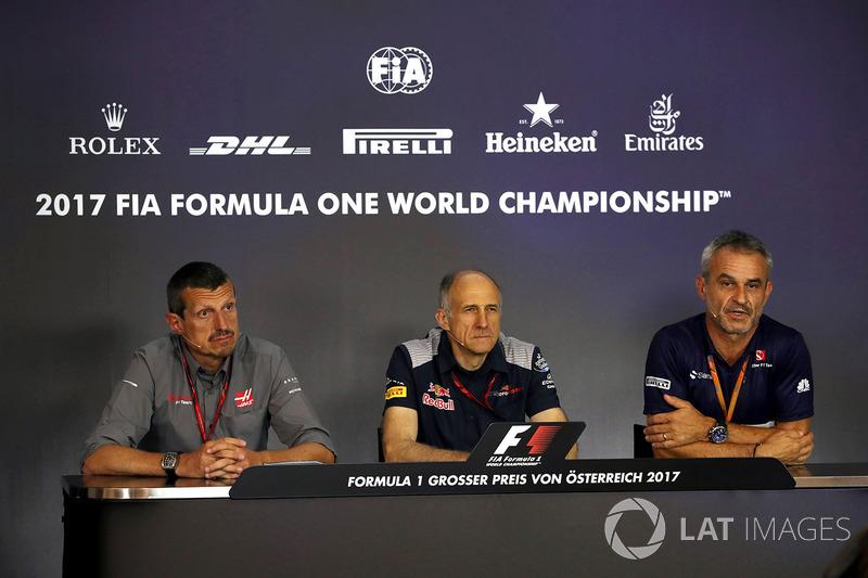 Guenther Steiner, Haas F1 Team, Teamchef, Franz Tost, Scuderia Toro Rosso, Teamchef und Beat Zehnder, Sauber F1, Teammanager