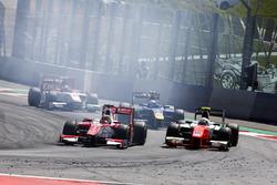 Charles Leclerc, PREMA Powerteam. Jordan King, MP Motorsport