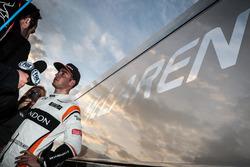 Stoffel Vandoorne, McLaren avec les médias