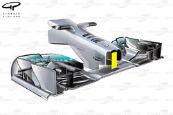 Mercedes W04 long nose, captioned