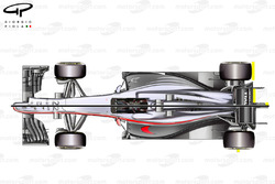 McLaren MP4/30 and MP4/29 top view comparison