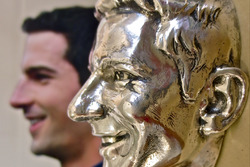 Alexander Rossi's sterling silver likeness that will forever represent his 2016 Indianapolis 500 win that will be affixed to the Borg-Warner Trophy