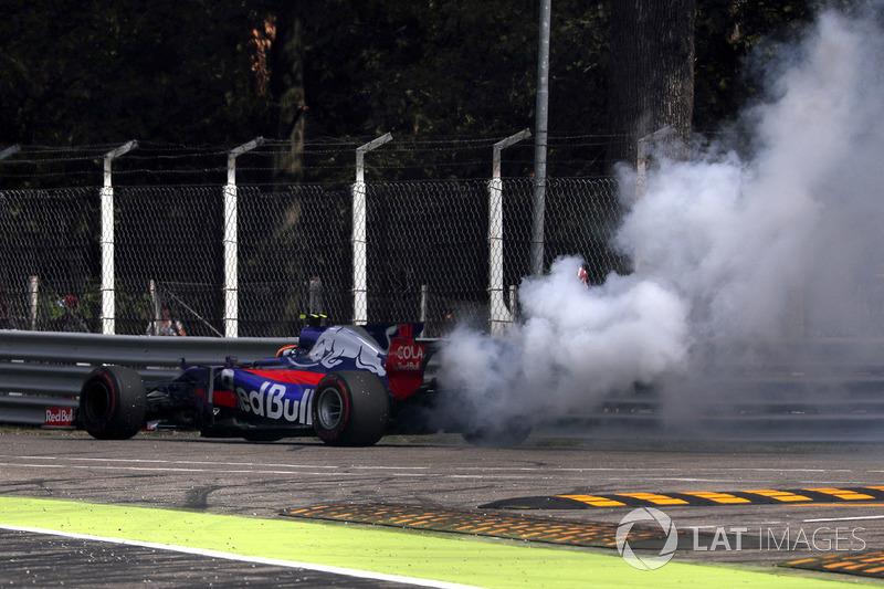Motorschaden: Carlos Sainz Jr., Scuderia Toro Rosso STR12