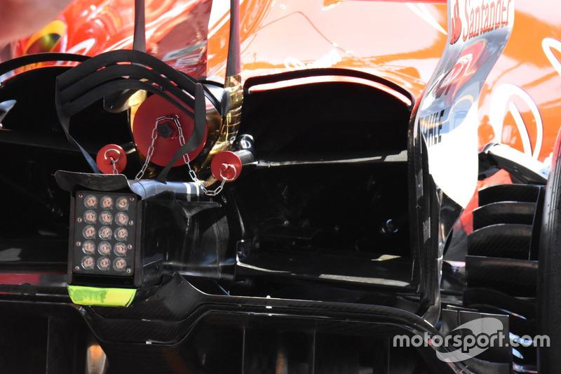 تفاصيل القسم الخلفي لسيارة فيراري