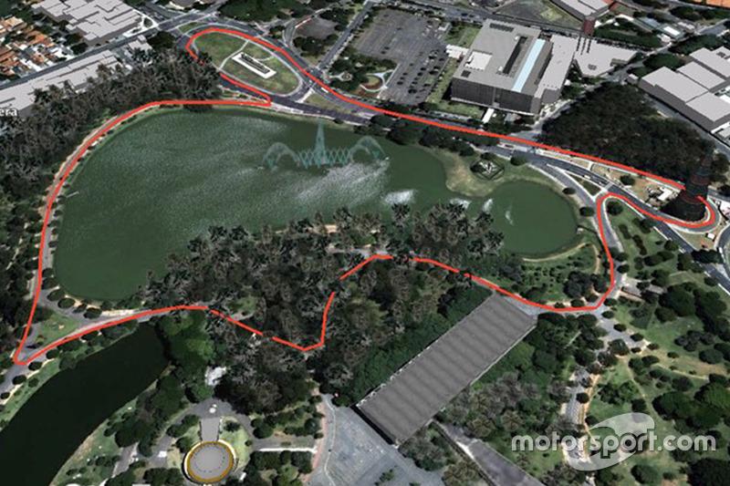 São Paulo, diseño del circuito en Parque de Ibirapuera de Lucas di Grassi