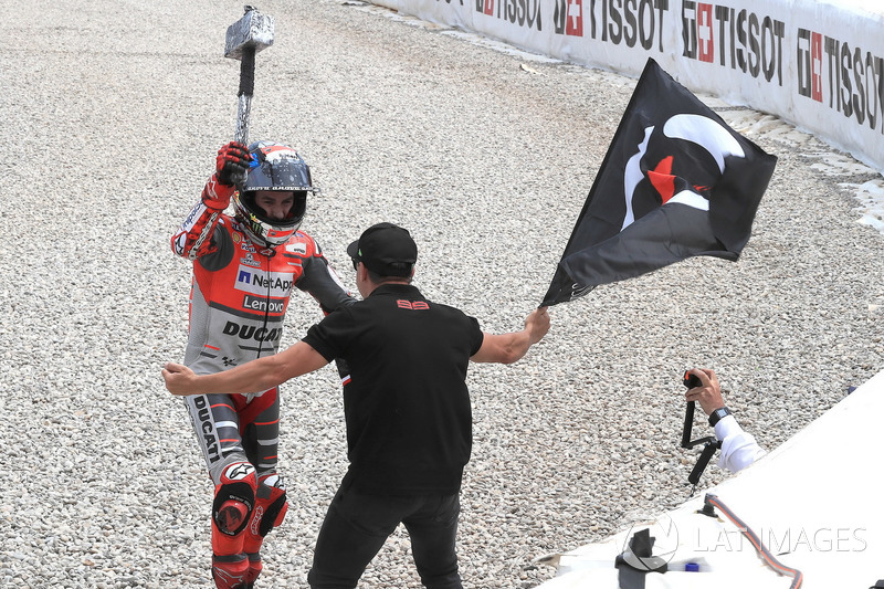 El ganador del GP de Catalunya 2018 de MotoGP, Jorge Lorenzo, Ducati Team
