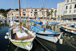 Boten in de haven van Sanary sur Mer