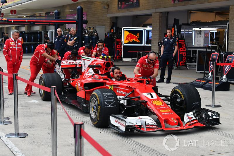 Ferrari pit stops