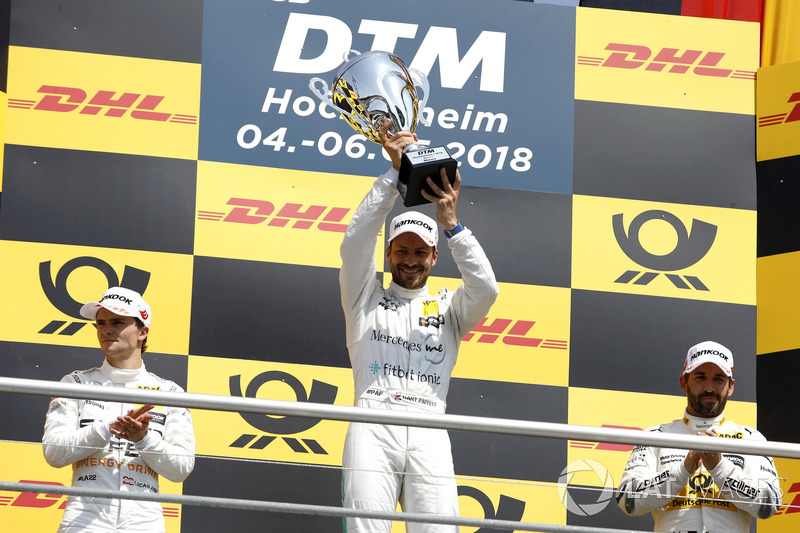 Podio: ganador de la carrera Gary Paffett Mercedes-AMG Team HWA, segundo puesto Lucas Auer, Mercedes-AMG Team HWA, tercer lugar Timo Glock, BMW Team RMG