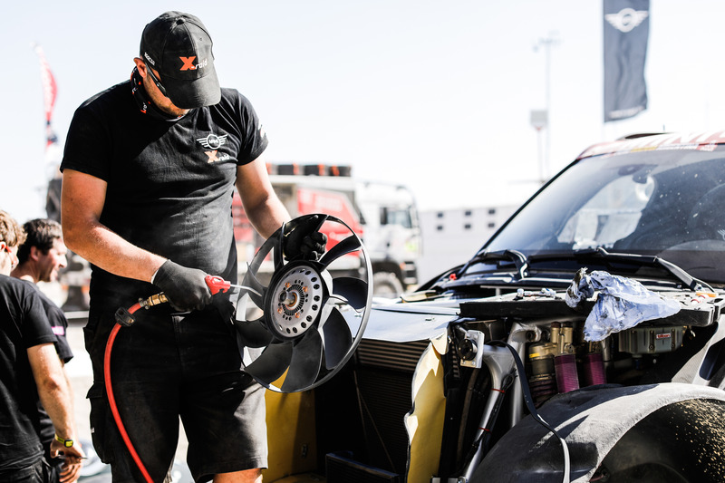 X-Raid mechanic at work