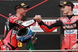 Podium : le vainqueur Marco Melandri, Aruba.it Racing-Ducati SBK Team, le troisième, Chaz Davies, Aruba.it Racing-Ducati SBK Team