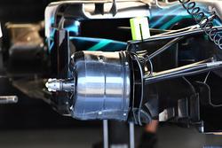 Conduit de frein avant de la Mercedes-AMG F1 W09