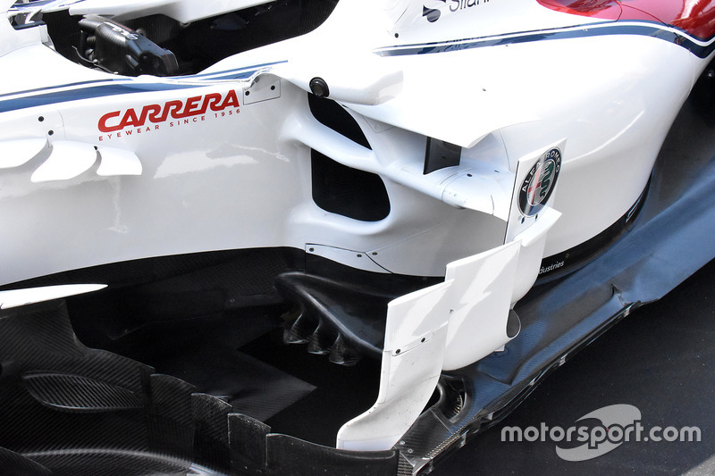 Detalle lateral del Sauber C37