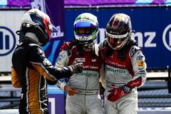 Il vincitore Jean-Eric Vergne, Techeetah, con Lucas di Grassi, Audi Sport ABT Schaeffler, Daniel Abt, Audi Sport ABT Schaeffler