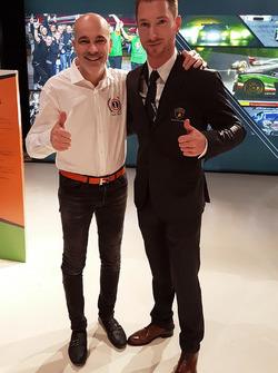 Armando Donazzan, proprietaario Orange1 Racing e il pilota Mirko Bortolotti