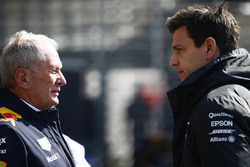 Helmut Markko, Consultant, Red Bull Racing, with Toto Wolff, Executive Director Mercedes AMG F1