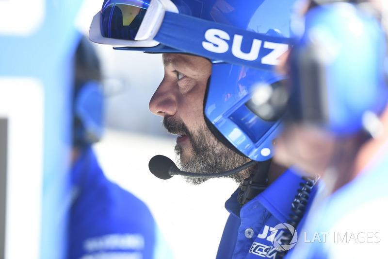 Mechanic of Team Suzuki MotoGP