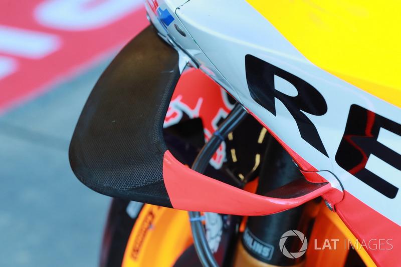 Une ailette sur la moto de Marc Marquez, Repsol Honda Team