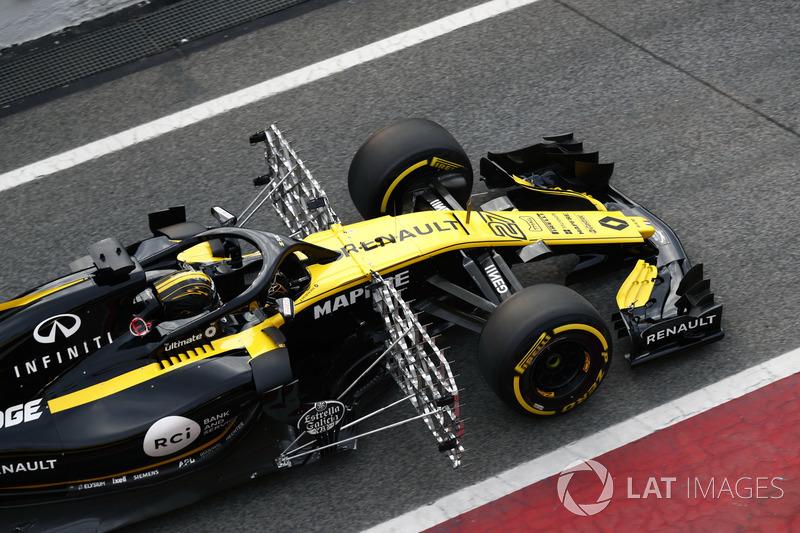 Nico Hulkenberg, Renault Sport F1 Team RS18, aero sensörleri