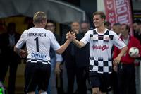 Mika Hakkinen y Mick Schumacher