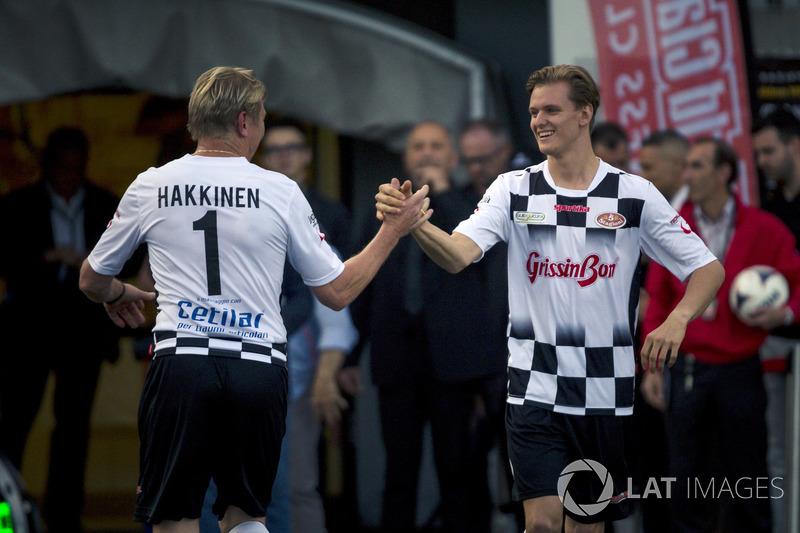 Mika Hakkinen ve Mick Schumacher