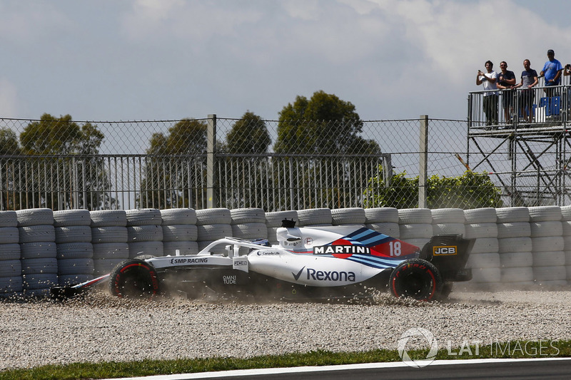 19. Lance Stroll, Williams FW41 crash