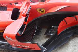 Ferrari SF71H bargeboard, sidepod detail