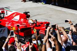 Sebastian Vettel, Ferrari SF70H, race winner
