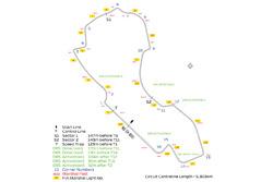 Melbourne Grand Prix circuit map