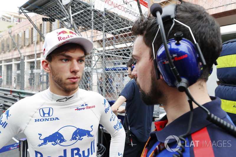 Pierre Gasly, Toro Rosso, in griglia
