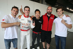 Polesitters Stéphane Richelmi, Harrison Newey, Thomas Laurent, Jackie Chan DC Racing