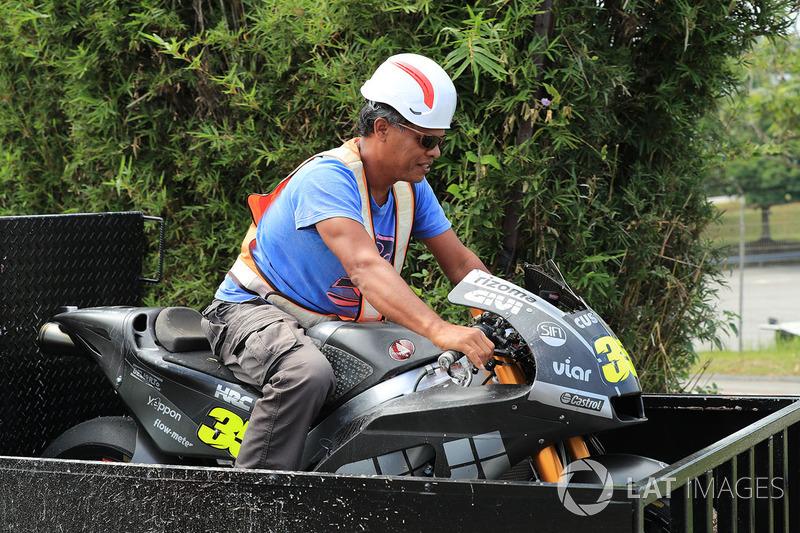 Marshal menunggangi motor Cal Crutchlow, Team LCR Honda