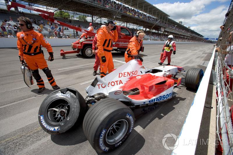 Ralf Schumacher, Toyota TF105 kaza