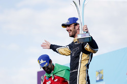 Jean-Eric Vergne, Techeetah, celebrates on the podium with Lucas di Grassi, Audi Sport ABT Schaeffler