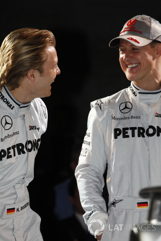 Nico Rosberg, Mercedes GP y Michael Schumacher, Mercedes GP